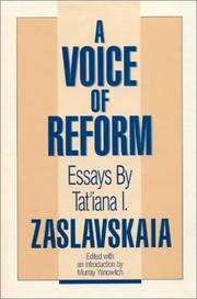 Cover of: A Voice of Reform