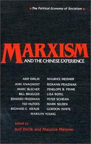 Cover of: Marxism & the Chinese Experience |