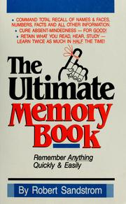 Cover of: The ultimate memory book | Robert Sandstrom