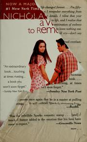 Cover of: A walk to remember | Nicholas Sparks