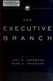 Cover of: The executive branch |