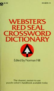 Cover of: Webster's red seal crossword dictionary | Hill, Norman