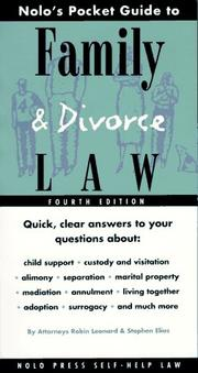 Cover of: Nolo's pocket guide to family law