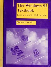 Cover of: The Windows 95 textbook | Stewart Venit