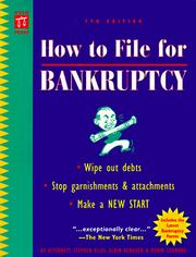 Cover of: How to file for bankruptcy | Stephen Elias
