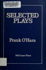 Cover of: Selected plays