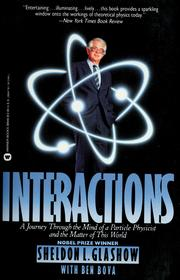 Cover of: Interactions | Sheldon L. Glashow