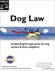 Cover of: Dog law | Randolph, Mary.