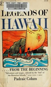 Cover of: Legends of Hawaii | Padraic Colum