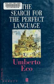 Cover of: The search for the perfect language | Umberto Eco