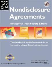 Cover of: Nondisclosure agreements: protect your trade secrets and more