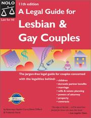 Cover of: A legal guide for lesbian and gay couples | Hayden Curry