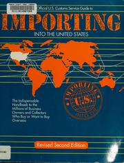 Cover of: Importing into the United States | U.S. Customs Service