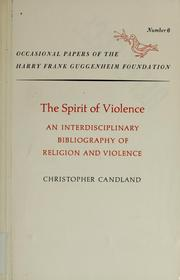 Cover of: The spirit of violence | Christopher Candland