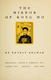 Cover of: The Mirror of Kong Ho | Ernest Bramah