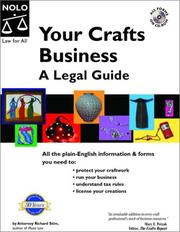 Cover of: Your crafts business: a legal guide