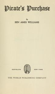 Cover of: Pirate's purchase | Williams, Ben Ames
