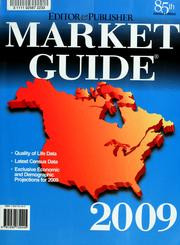 Cover of: Editor & publisher market guide, 2009 | Carlynn Chironna