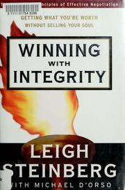 Cover of: Winning with integrity | Leigh Steinberg