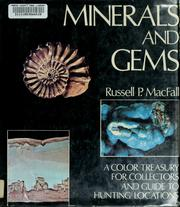 Cover of: Minerals and gems by Russell P. MacFall.