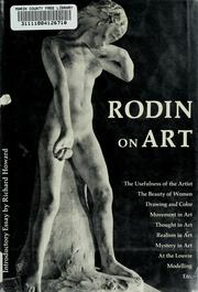 Cover of: Rodin on art