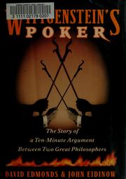Wittgenstein's poker by Edmonds, David