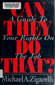 Cover of: Can they do that? | Michael A. Zigarelli