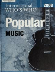 Cover of: International who's who in popular music2008 |