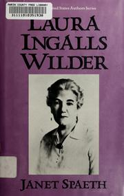 Cover of: Laura Ingalls Wilder | Janet Spaeth