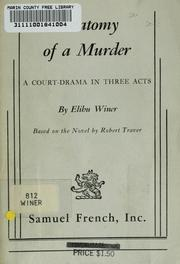 Cover of: Anatomy of a murder | Elihu Winer