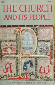 Cover of: The church and its people |