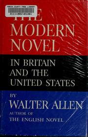 Cover of: The modern novel in Britain and the United States