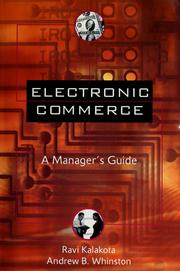 Cover of: Electronic commerce | Ravi Kalakota