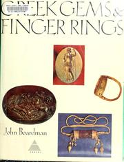 Cover of: Greek gems and finger rings | Boardman, John