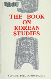 Cover of: The book on Korean studies |