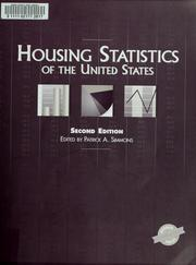 Cover of: Housing statistics of the United States | Patrick A. Simmons