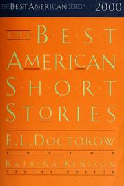 Cover of: The best american short stories 2000