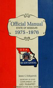 Cover of: Official manual state of Missouri | Missouri. Office of the Secretary of State