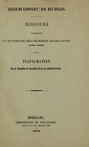 Cover of: Discours prononces a l'ouverture des chambres legislatives (1831-1859) | Leopold I King of the Belgians