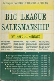 Cover of: Big-league salesmanship. | Bert H. Schlain