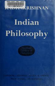 Cover of: Indian philosophy | Radhakrishnan, S.