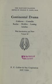 Cover of: Continental drama |