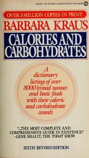 Cover of: Calories and carbohydrates | Barbara Kraus