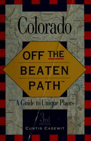 Cover of: Colorado | Curtis W. Casewit
