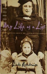 Cover of: My life as a list by