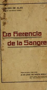 Cover of: La herencia de la sangre | Claudio de Alas