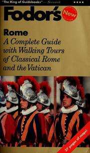 Cover of: Fodor's Rome by