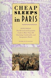 Cover of: Cheap sleeps in Paris by Sandra Gustafson