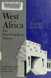 Cover of: West Africa by Richard Adloff