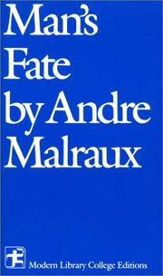 Cover of: Man's fate =